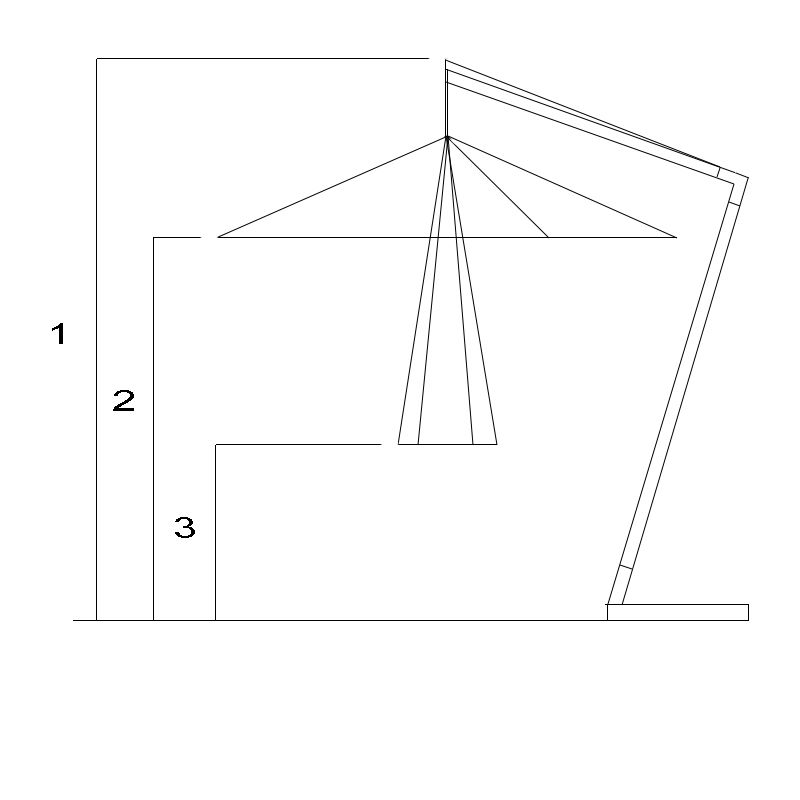 cantilever parasol diagram